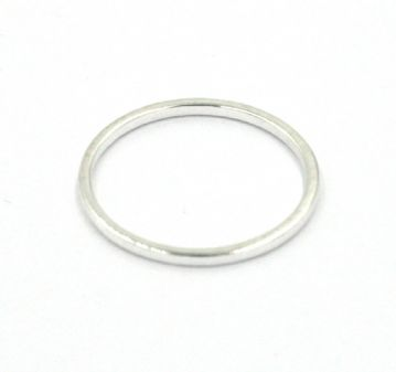 10pcs x 16mm Silver plated closed ring 34-zx1748